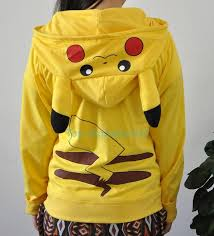 fast delivery japan anime cool pokemon pikachu hoodie hoody
