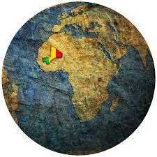 Map Of Mali Mali Flag On Globe Map Sldinfo