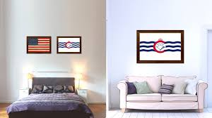 cincinnati city ohio state flag home decor office wall art