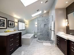 rectangular white porcelain stand alone soaking bathtub and corner