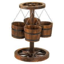 Wooden Patio Plant Stands by Plant Stand Stunning Wooden Flower Pot Holders Image