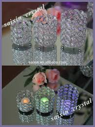 shiny crystal ball candle stand for wedding table centerpiece