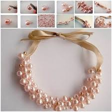 elegant pearl necklace images Diy elegant pearl cluster necklace jpg