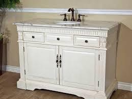 Single Bath Vanity White Single Sink Bathroom Vanity Impressive Interior Throughout