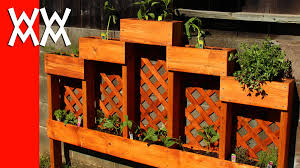 herb planter diy decoration cedar planter box elevated herb garden planting an