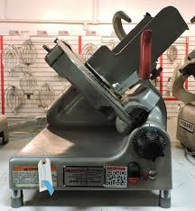 used berkel 909 am manual commercial gravity feed deli meat slicer