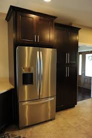 kitchen cabinet pantry ideas built in refrigerator cabinet surround traditional kitchens