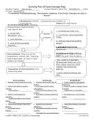 Nursing Concept Map Nursing Plan Of Care Concept Map Immobility Hip Fracture