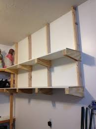 wood garage shelves perfect home tips property of wood garage