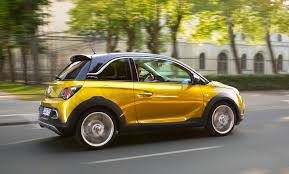 opel modified mini crossover on road to success new opel adam rocks