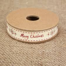 east of india merry christmas snowflakes christmas ribbon 3 metres