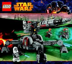 lego star wars clone wars instructions childrens toys