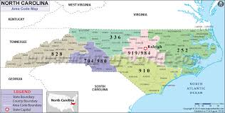 map of area codes carolina area codes map of carolina area codes