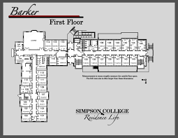 dorm room floor plans barker hall