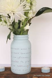 Mason Jar Vases For Wedding Diy Wedding Ideas Archives The Country Chic Cottage