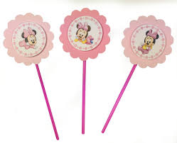 baby minnie mouse 1st birthday baby minnie mouse 1st birthday disney cupcake toppers set of