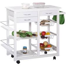 white kitchen cart island merax tile top mobile kitchen cart kitchen island with drawers and