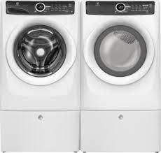 Front Loader Pedestal Electrolux Eflw417siw Front Load Washer U0026 Efmg417siw Gas Dryer W