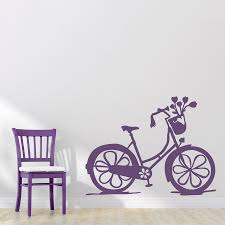 girls bike wall decal