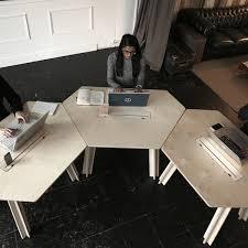 Table For Office Desk Modoola Smart Hexagonal Desk