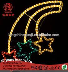 led multicolor fall shooting star christmas motif lights for