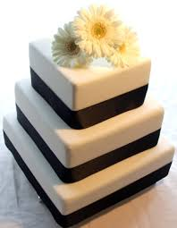 3 tier monochrome 3 gerbera wedding cakes stacked simple d u2026 flickr