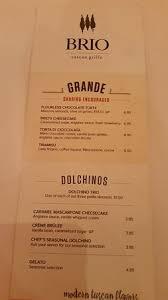 brio raleigh open table dessert menu picture of brio tuscan grille raleigh tripadvisor