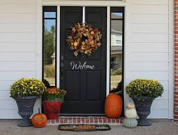 fall door decorations fall door fall front porch decorating ideas the creativity exchange