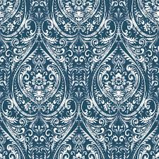 Peal And Stick Wall Paper Bohemian Damask Indigo Peel And Stick Wallpaper Traditional