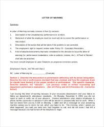 Appraisal Rebuttal Letter professional warning letter template 6 free word pdf documents
