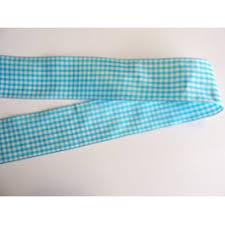 blue gingham ribbon 38mm gingham ribbons