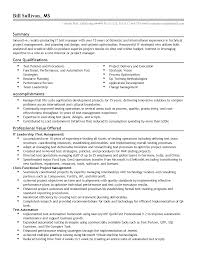 Qa Manager Resume Summary Test Manager Resume Resume For Your Job Application
