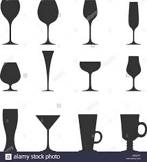 martini glass vector vector icon set of utensil wine beer martini whiskey brandy