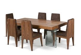 Modern Dining Table Extendable Extendable Dining Set Creative Design Extendable Wooden With Glass