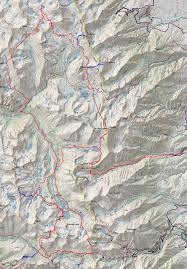 Sierra High Route Map by Baxter Pass Loop U2013 Doing Miles