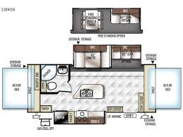 Rockwood Trailers Floor Plans New 2018 Forest River Rv Rockwood Roo 23ikss Expandable At Bt