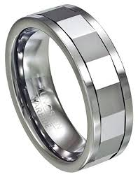 men s mirrored tungsten spinner ring 8mm