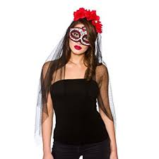 day of the dead costumes day of the dead deluxe mask veil clothing