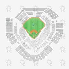 Petco Park Map Petco Park Baseball Sports Seating Charts