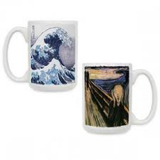ceramic art coffee mugs