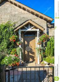 Home Flower Decoration Flower Decoration Outside A House Stock Photo Image 45245654