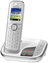 kx tgj320gw premium telephone with answering machine and colour