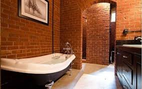Bathtub Decorations Bathroom Appealing Brick Bathrooms With Unique Bathtub Classic