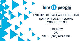 Data Architect Resume Enterprise Data Architect And Data Manager Resume Lyndhurst Nj