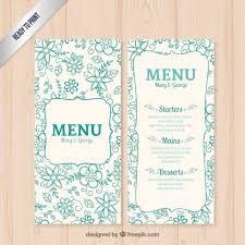 menu template wedding floral wedding menu template vector free