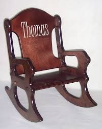 Rocker Chair Wooden Kids Rocking Chair Personalized Cherry Finish