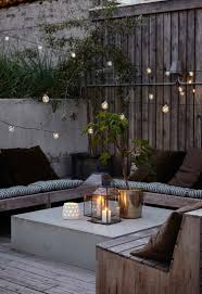Pallet Cushions by Small Outdoor Living Space Ideas For Fall With Wooden Pallet
