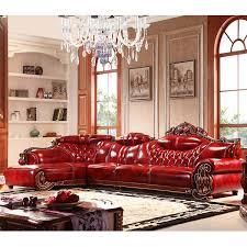 canapé royal canapé royal 3 places avec méridienne et fauteuils en cuir pu