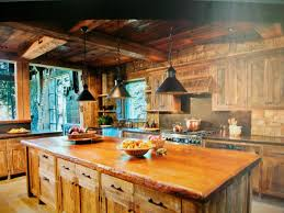 Painting Interior Log Cabin Walls by Rustic Kitchen Room Inside A Residential Log Home Built By Maison