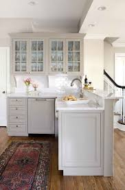 light grey kitchen cabinets white spray paint melamine counter top